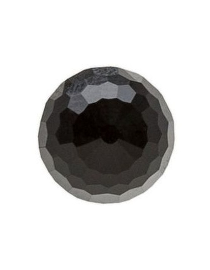Facet Bead 10mm Stud Earring: Black image 5