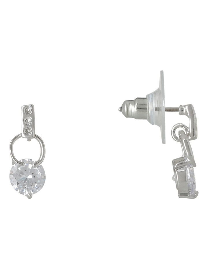 Gje903M Tiny Crystal On Small Ring Fitting Earrings image 2