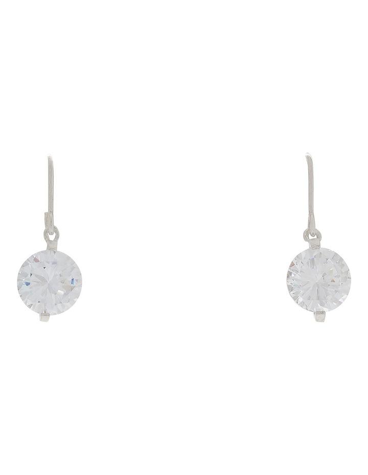 Cz Drop Hook Earrings image 1