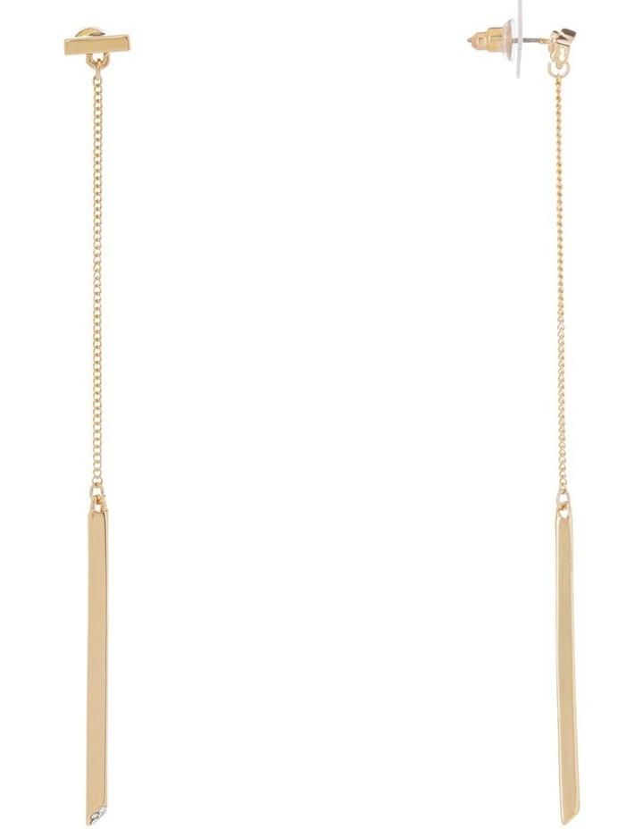 Pave Detail Bar Drop Earring image 2