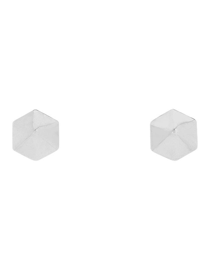 Metal Facet Stud Earring image 1