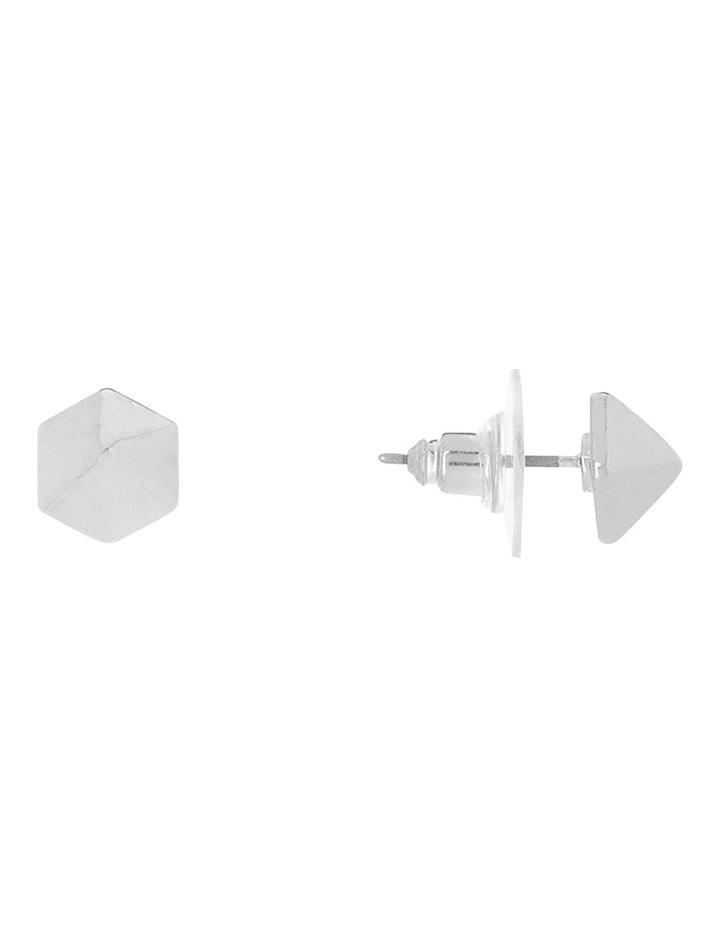 Metal Facet Stud Earring image 2