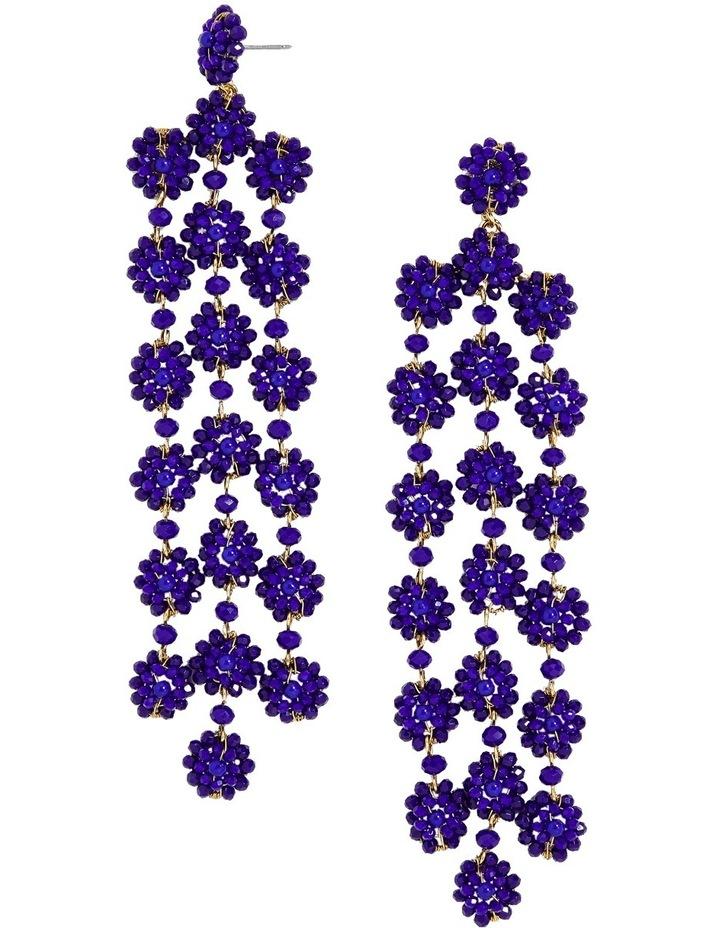 Shiori Flower Drop Earrings image 1