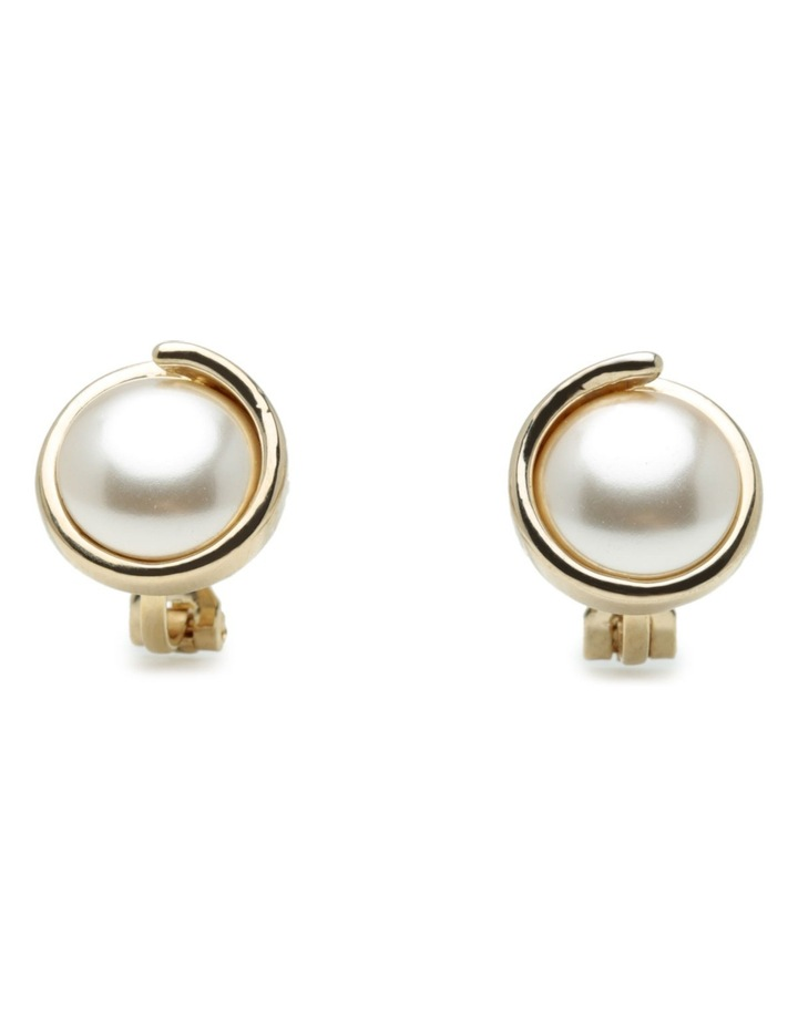 M886CE-G/P Pearl Clip Earring image 1