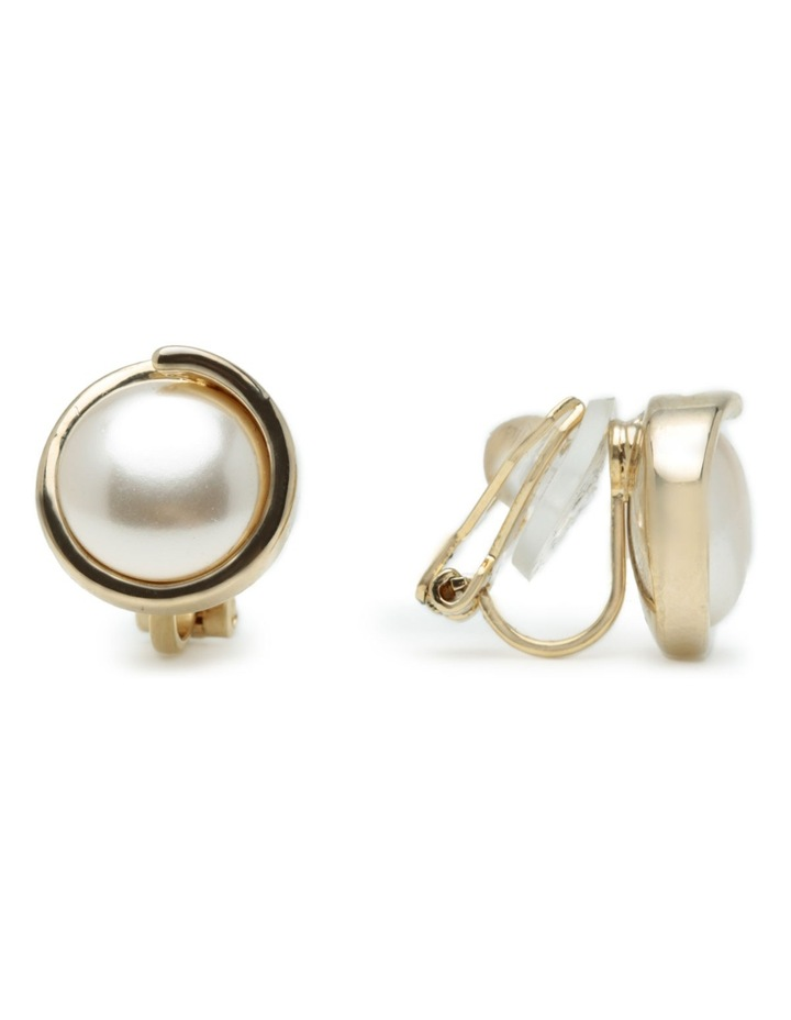M886CE-G/P Pearl Clip Earring image 2