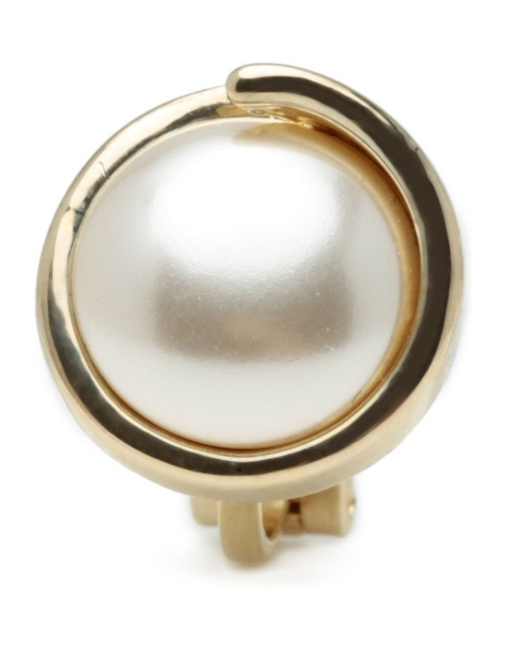 M886CE-G/P Pearl Clip Earring image 3