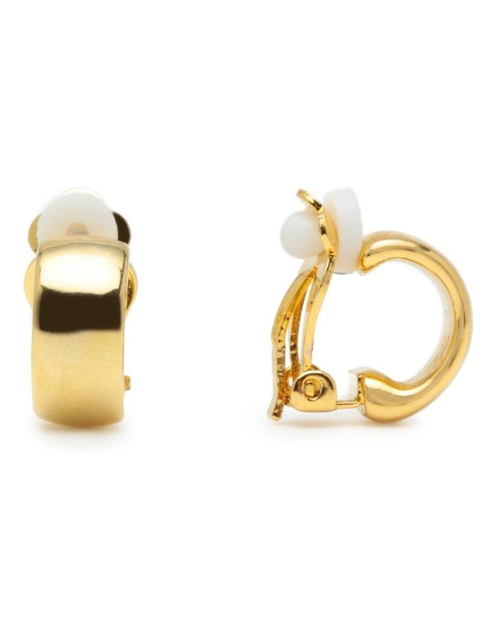R745CE-GLD Metal Clip Earrings image 2