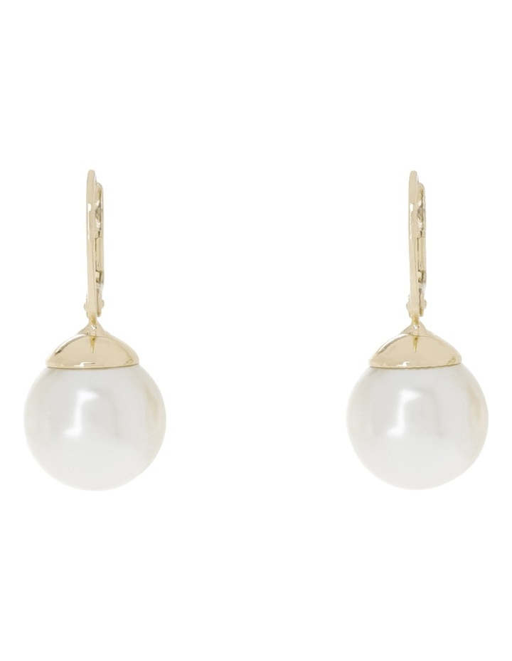French Hook Faux Pearl Earring image 1