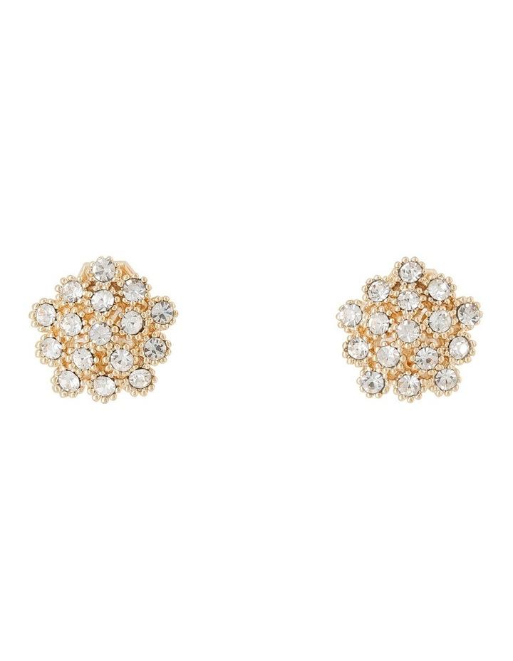 Cluster Cz Clip Earrings image 1