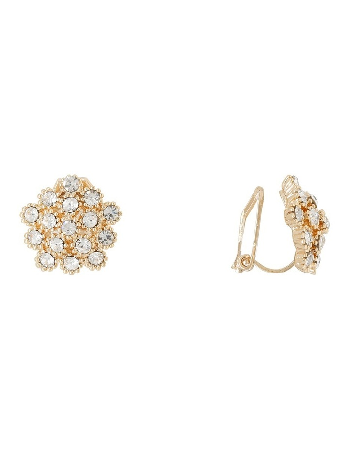 Cluster Cz Clip Earrings image 2
