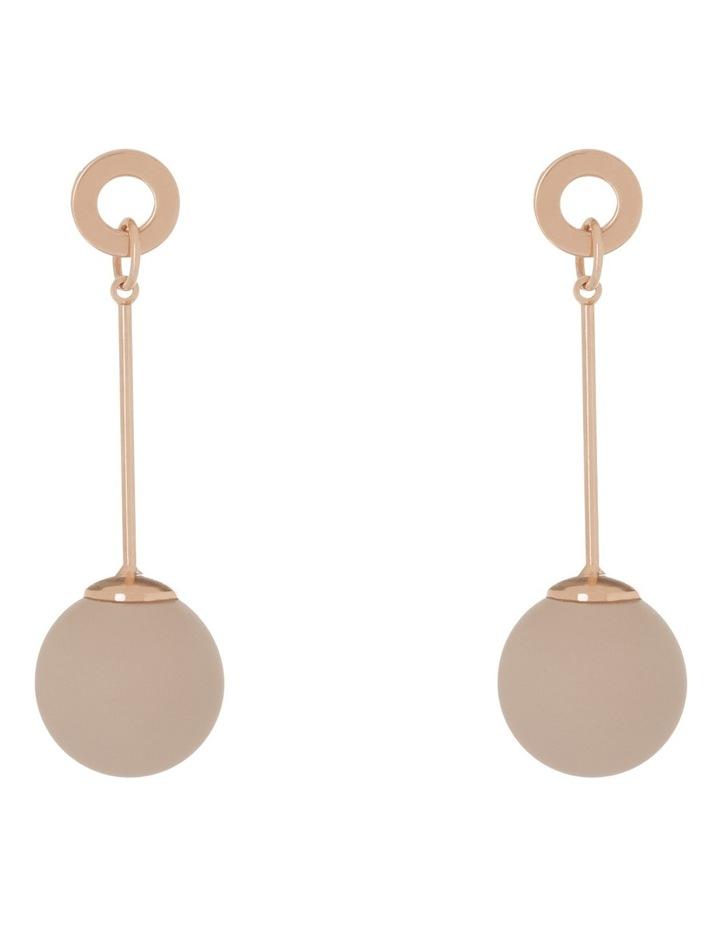 Long Bar Drop Earing W Pink Ball image 1