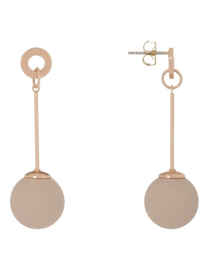 Long Bar Drop Earing W Pink Ball image 2