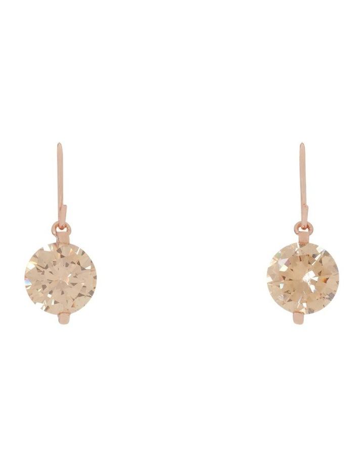 Cz Hook Drop Earrings image 1