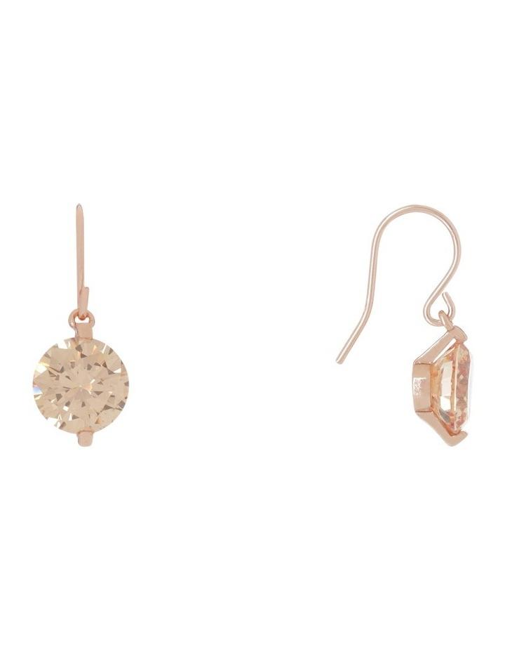 Cz Hook Drop Earrings image 2