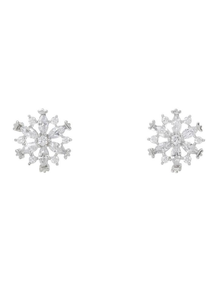 Cz Flower Earrings image 1
