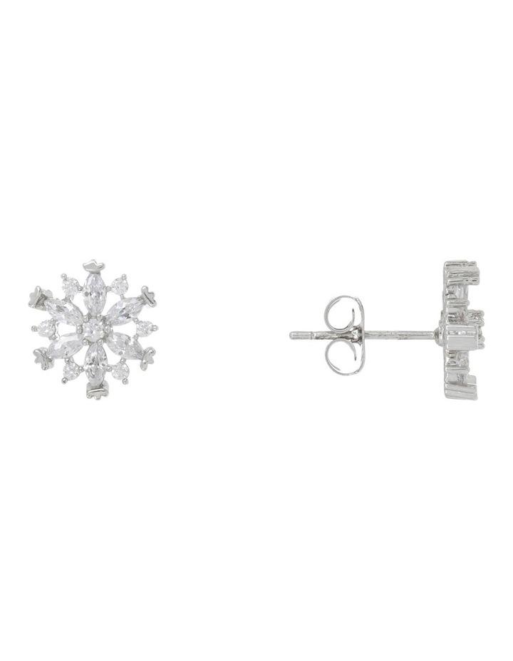 Cz Flower Earrings image 2