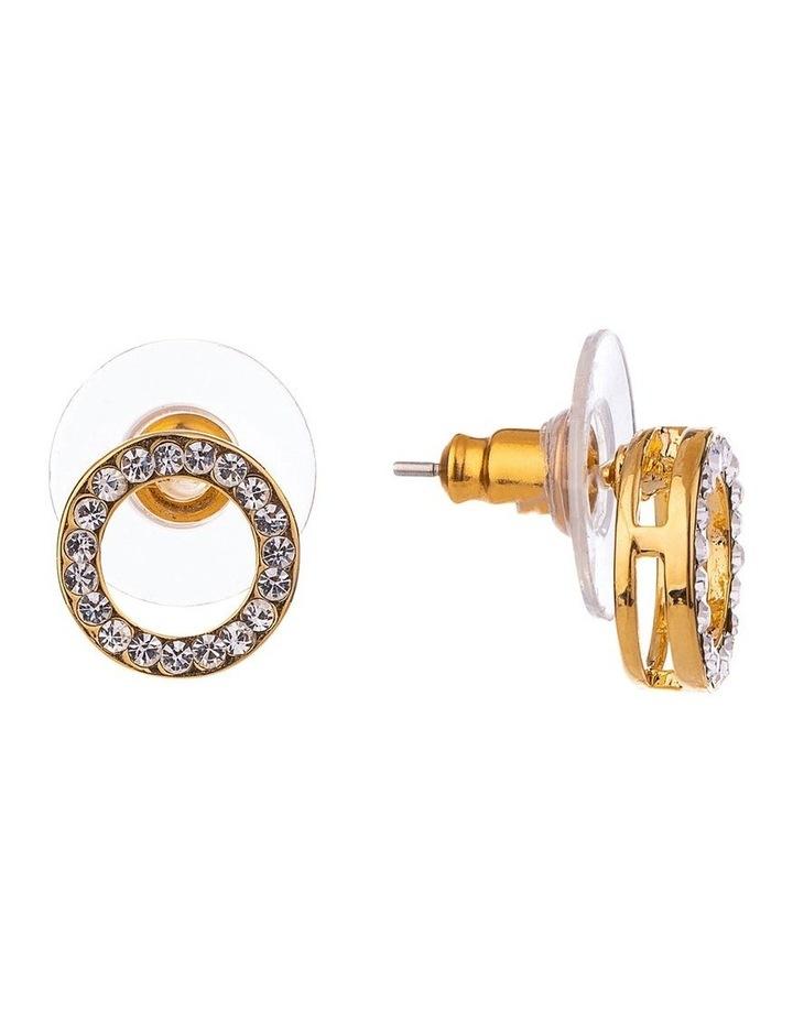 GJEL118M CZ Circle Earring image 2