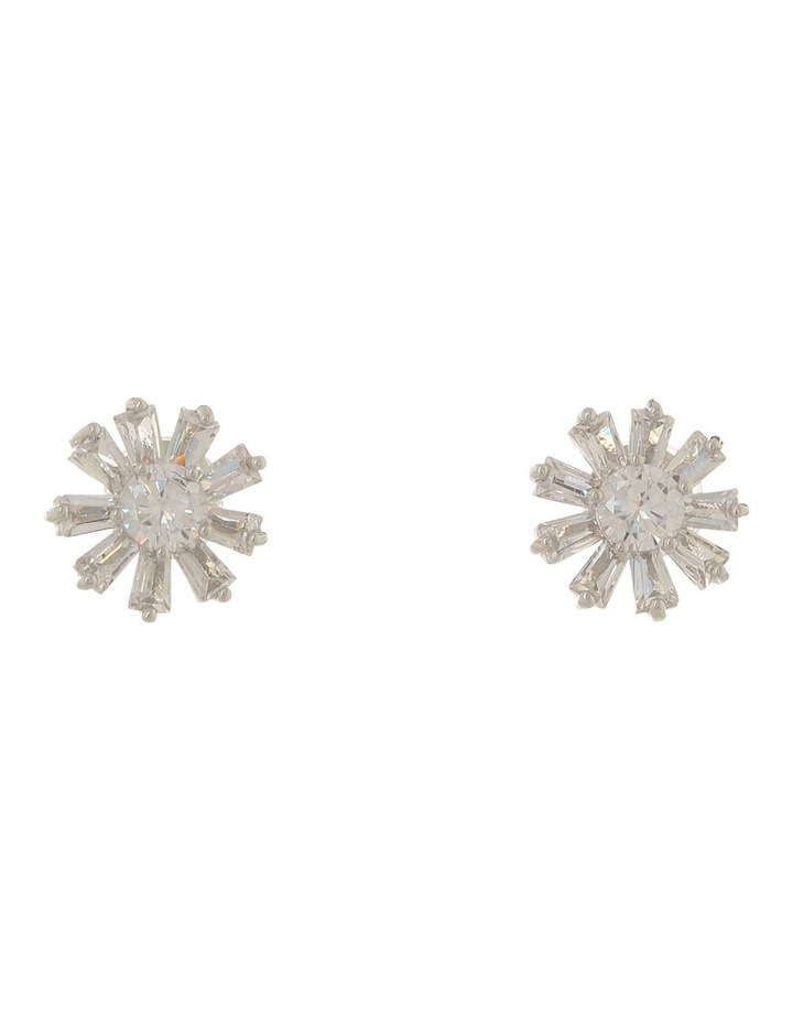 Flower Shaped Cz Earring Gjel030M image 1