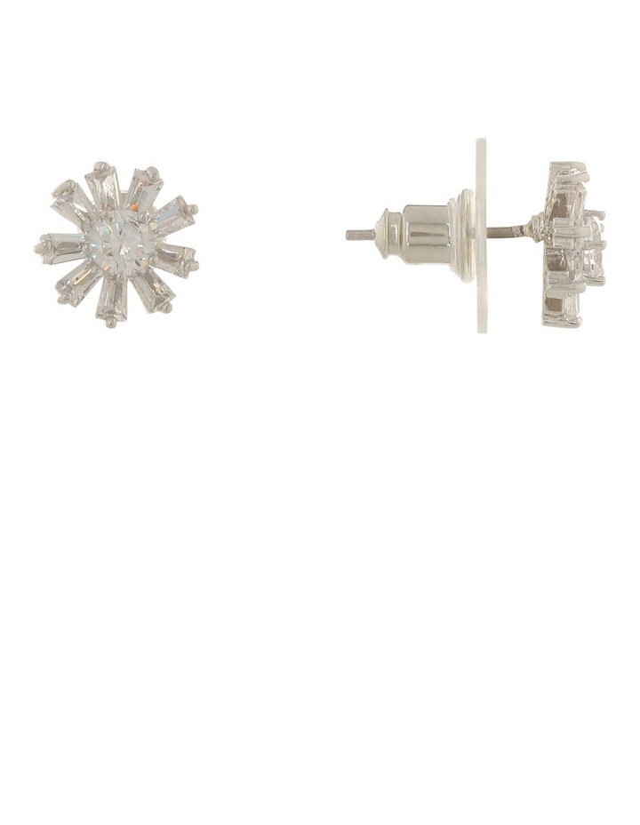 Flower Shaped Cz Earring Gjel030M image 2
