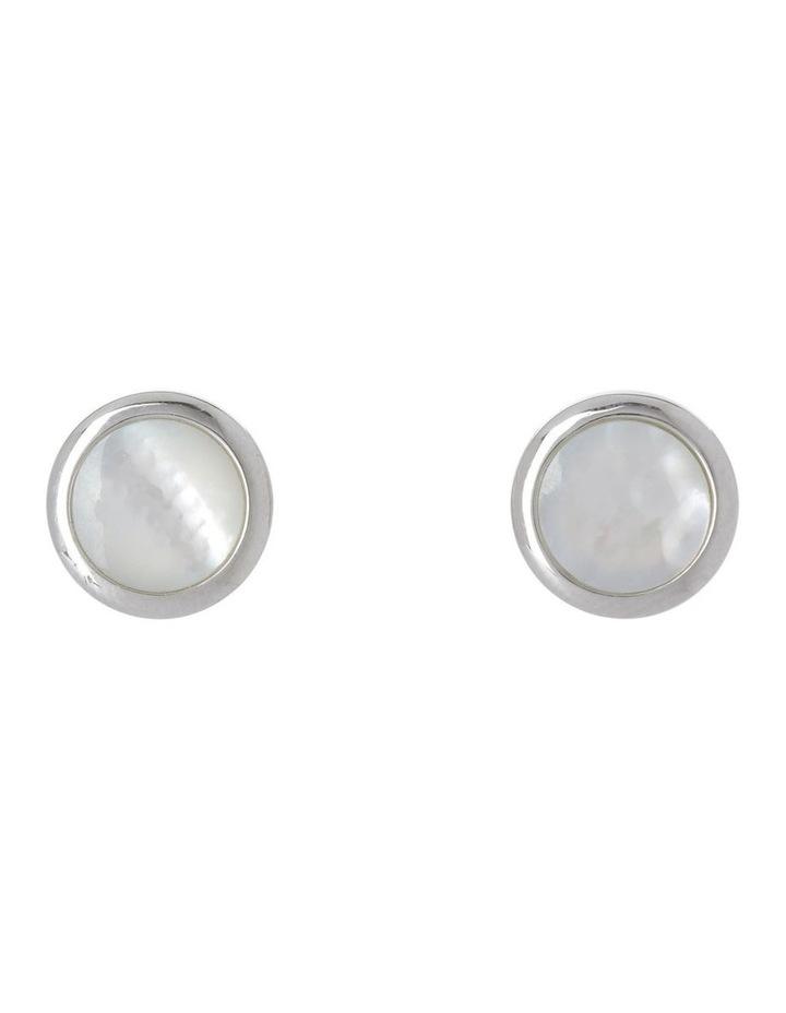 Luminous Mother of Pearl Earrings image 1