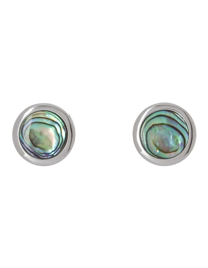 Irridescent Abalone Shell Earrings image 1