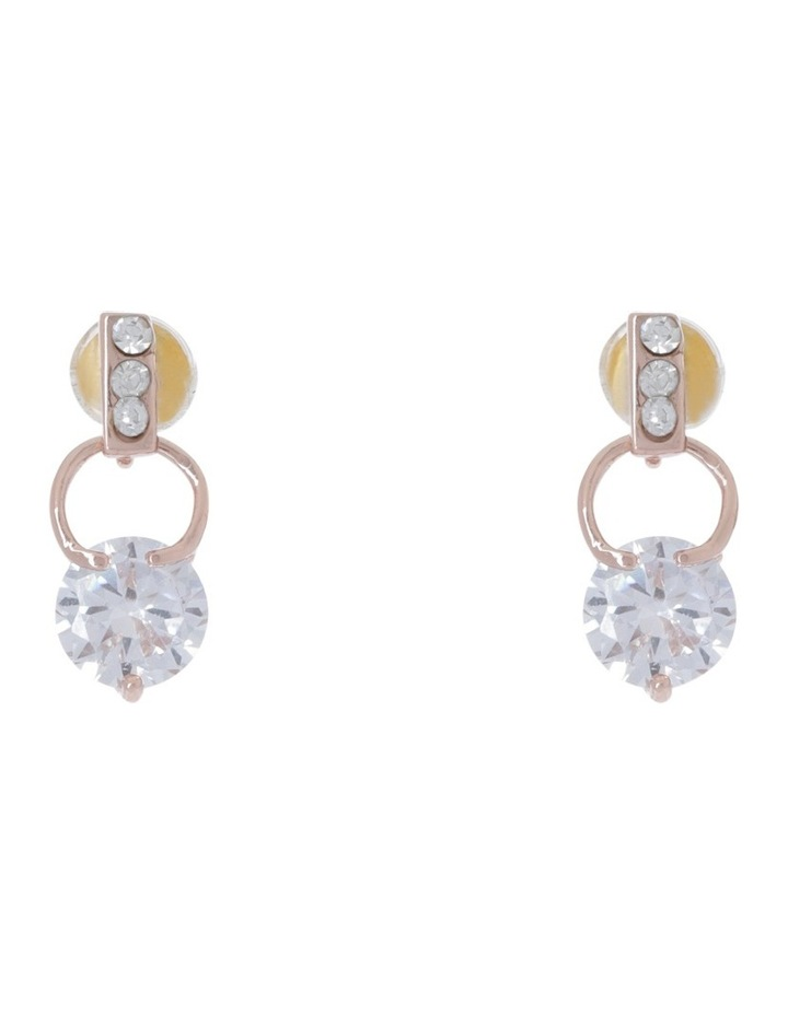 Tiny Crystal Small Ring Earring image 1