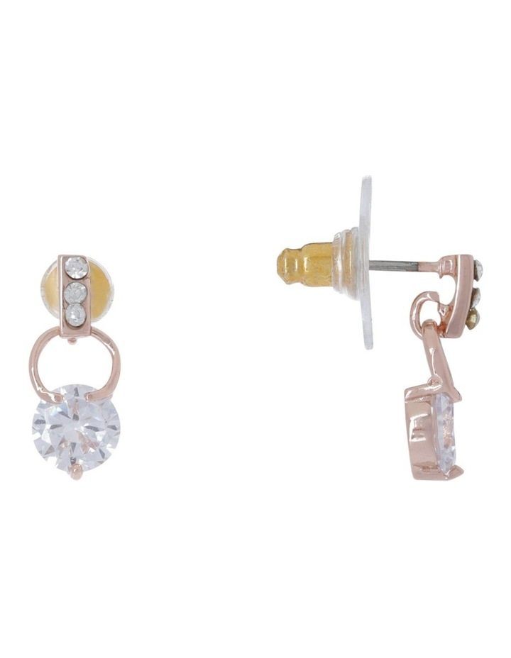 Tiny Crystal Small Ring Earring image 2