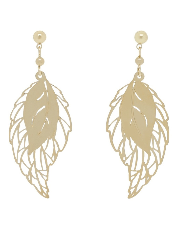 Double Feather Earring image 1