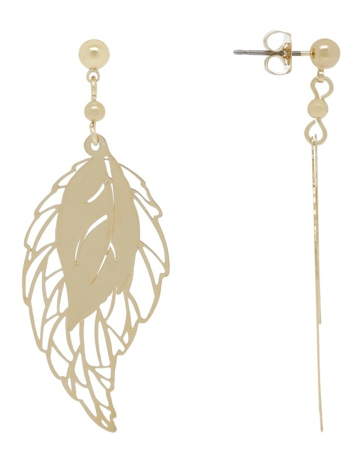 Double Feather Earring image 2