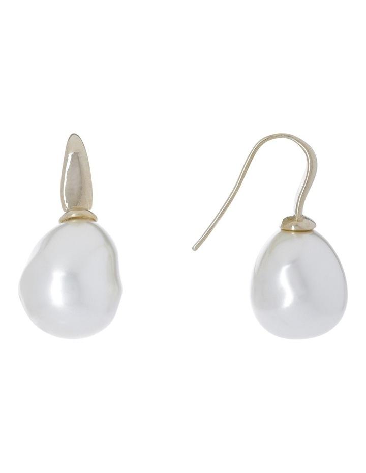 Faux Pearl Earring image 2
