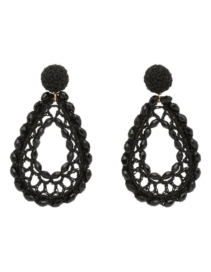Crochet Drop Beaded Earring image 1