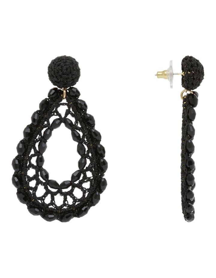 Crochet Drop Beaded Earring image 2