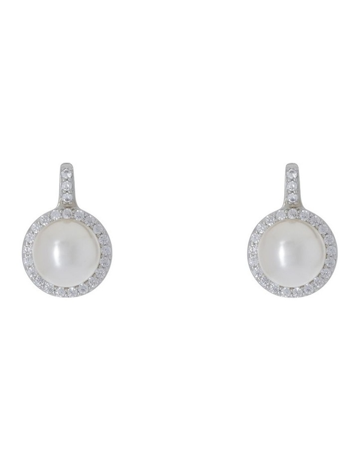 Faux Pearl With CZ Surround image 1