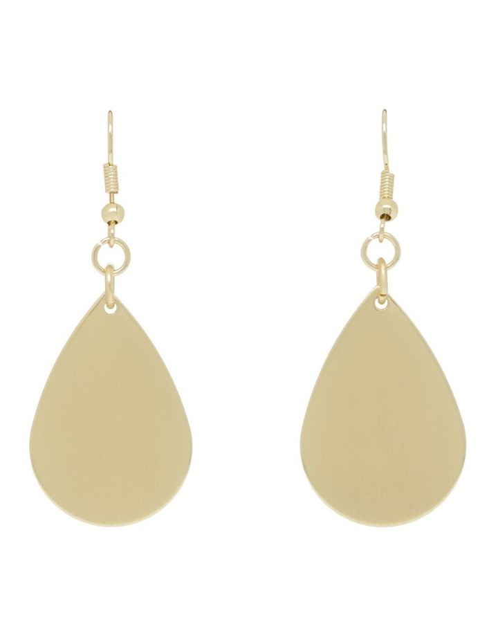 Matt Teardrop Earring image 1