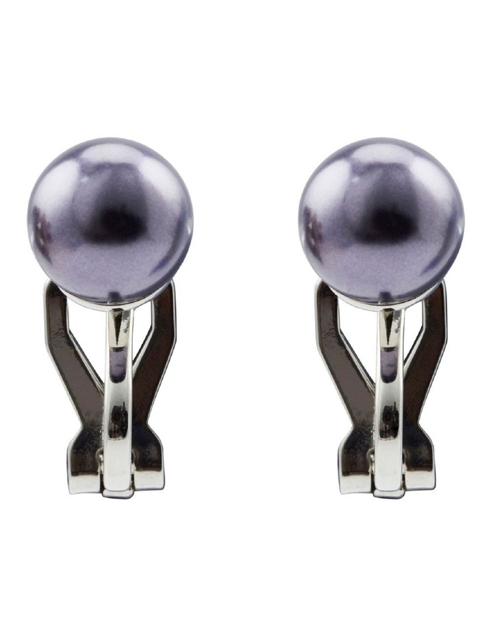 8mm Pearl Clip Earring image 1