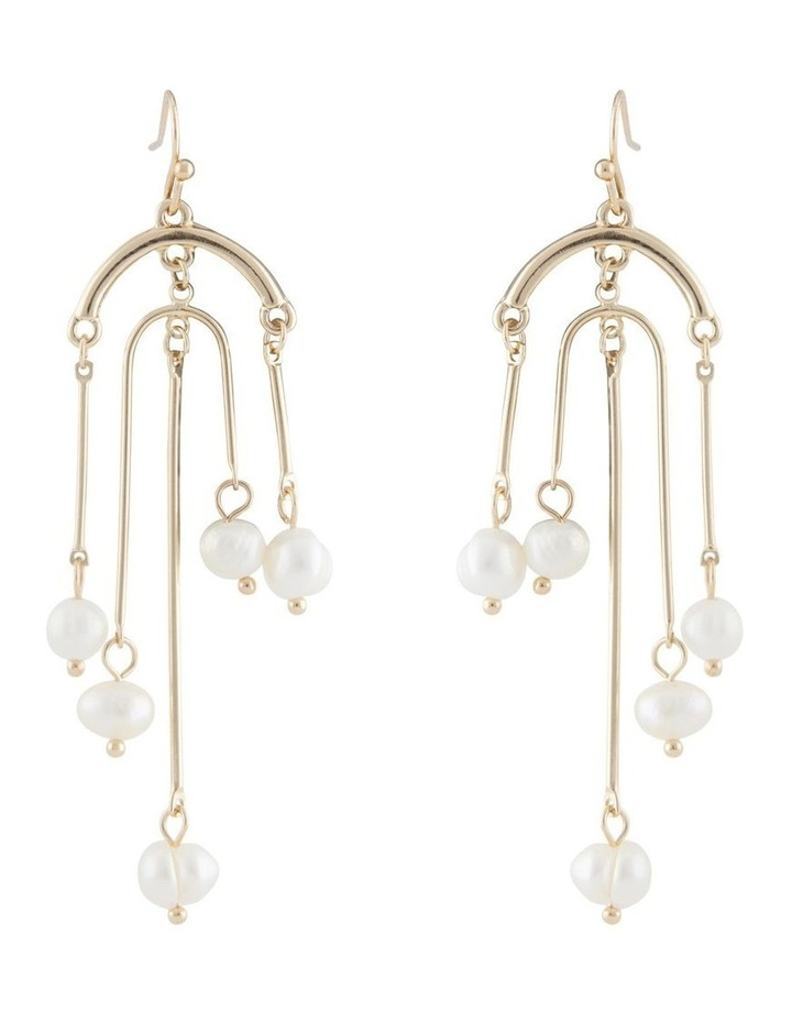 Architectural Pearl Tassel Earring image 1