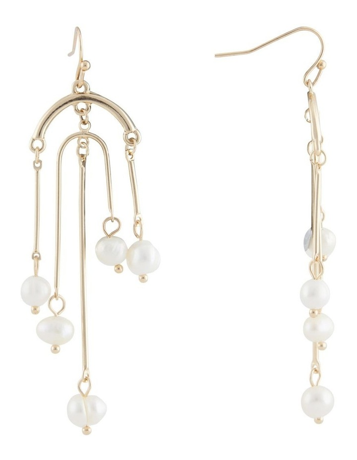 Architectural Pearl Tassel Earring image 2