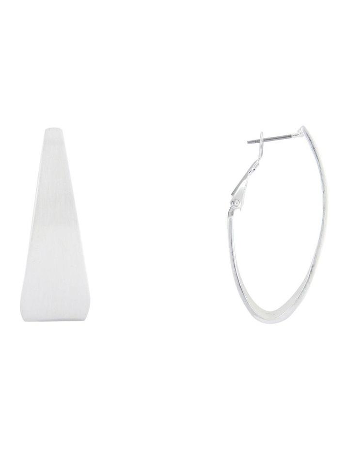 Flat Hoop Earrings image 2