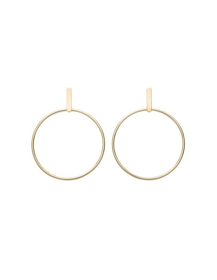 Iggy Hoop Bar Earring Gold image 1