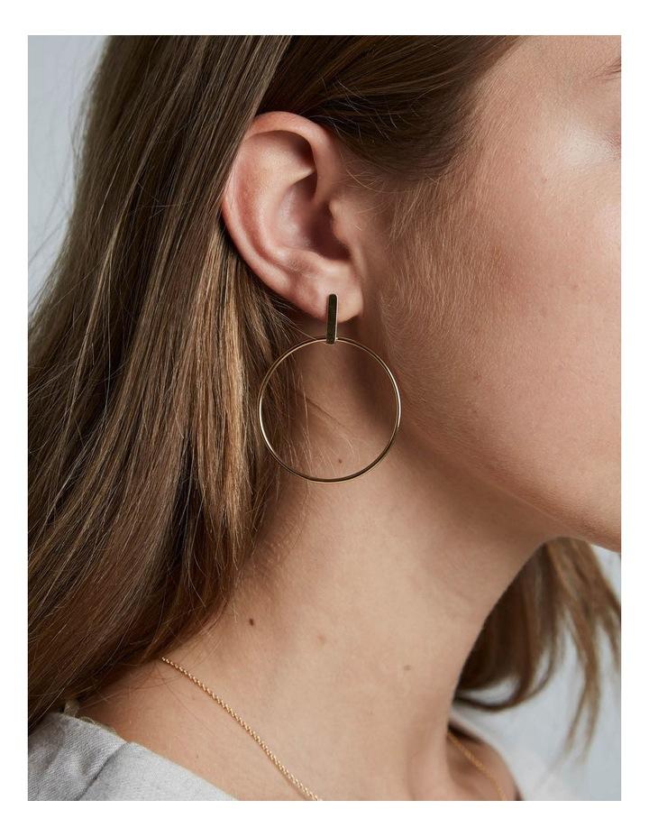 Iggy Hoop Bar Earring Gold image 2