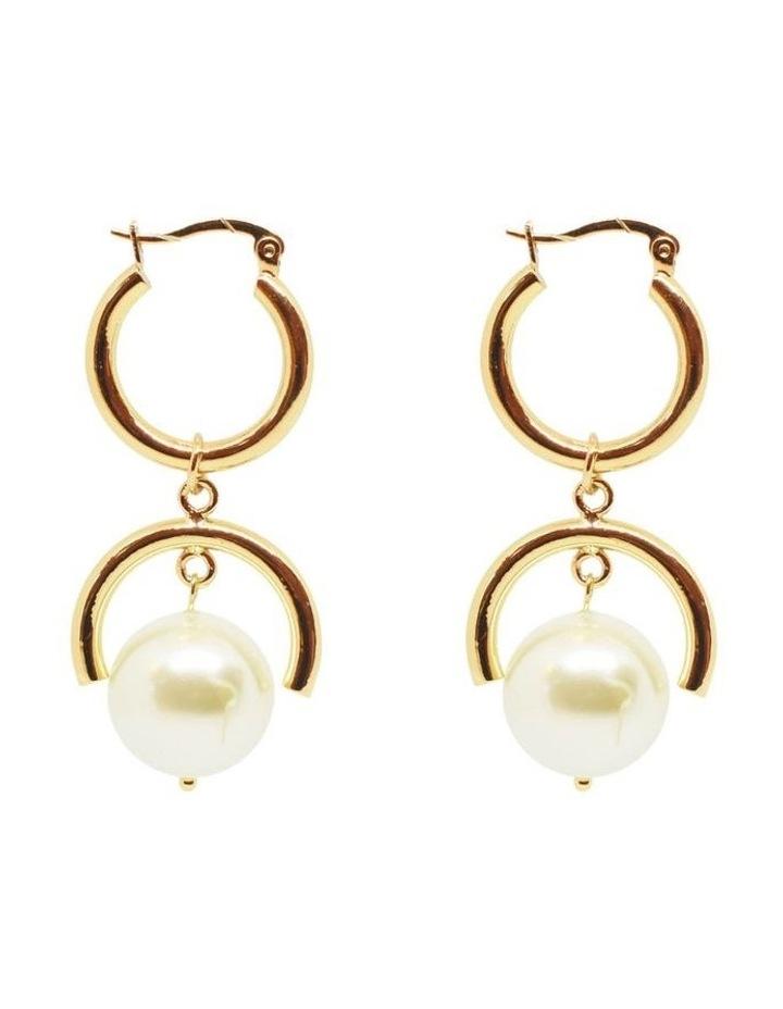 Elle Pearl Earrings Gold image 1