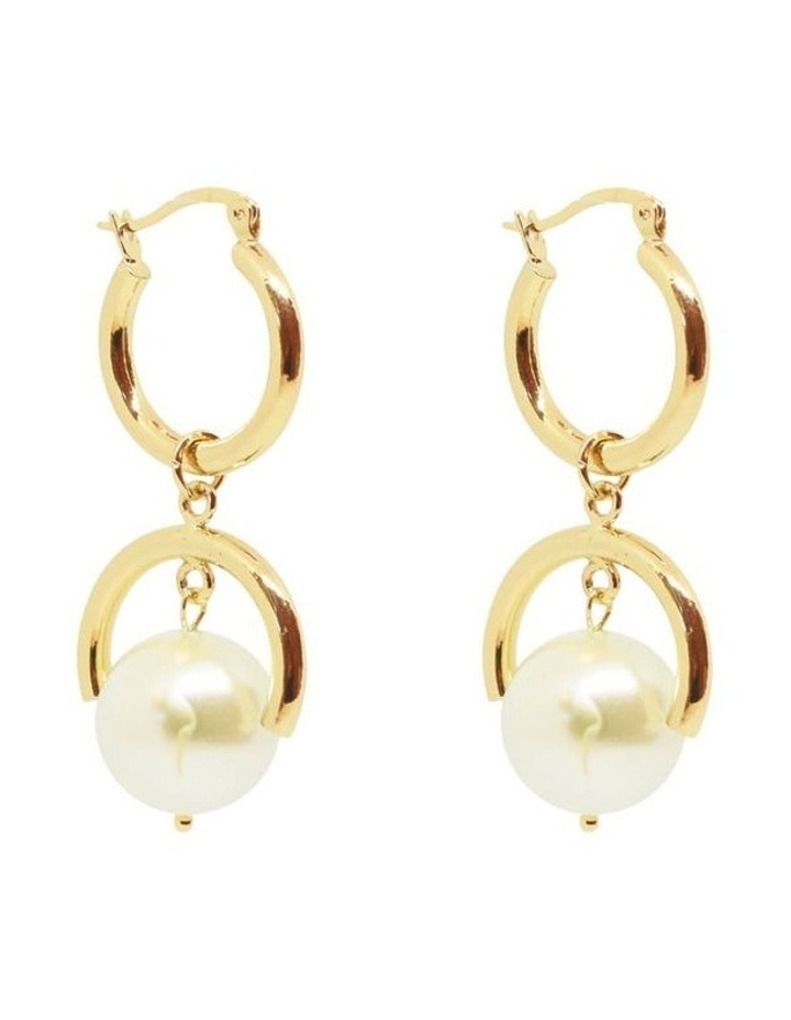 Elle Pearl Earrings Gold image 2