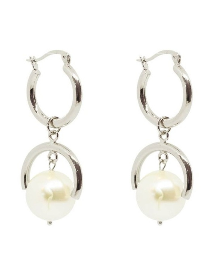 Bling Bar Elle Pearl Earrings Silver