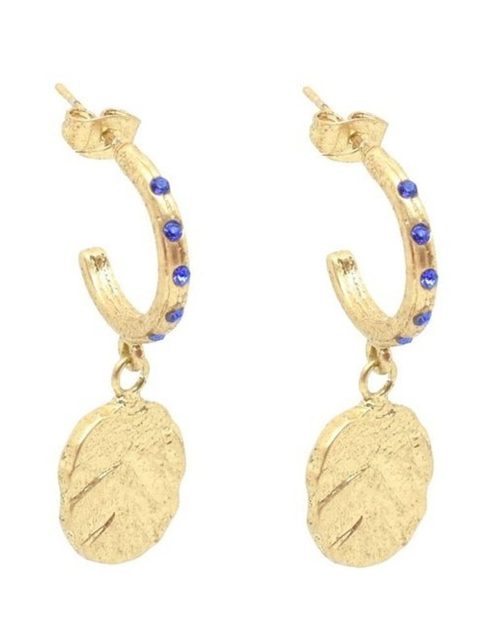 Odine Mini Crystal Hoops Gold image 1
