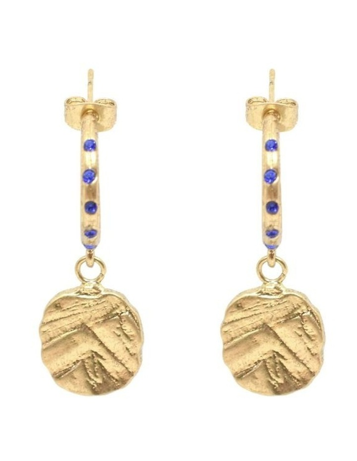 Odine Mini Crystal Hoops Gold image 2
