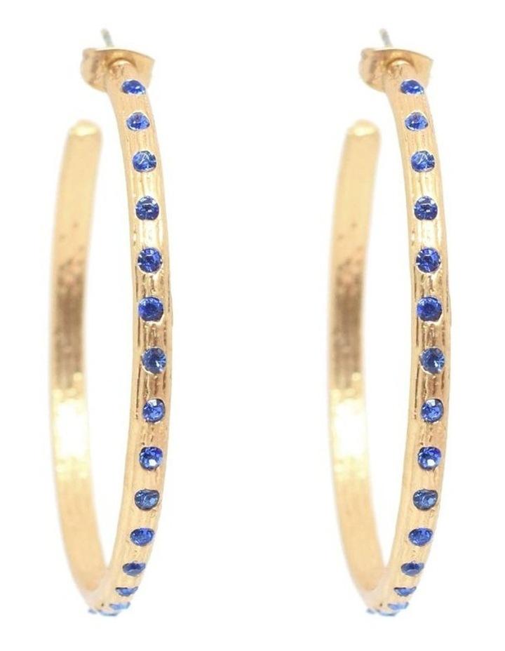Odine Crystal Large Hoops Gold image 2