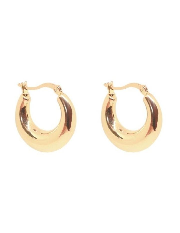 Penelope Mini Hoops Gold image 2