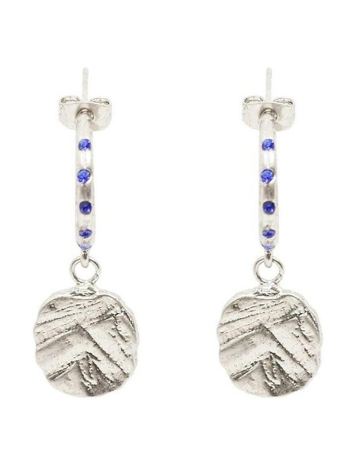 Odine Mini Crystal Hoops Silver image 1