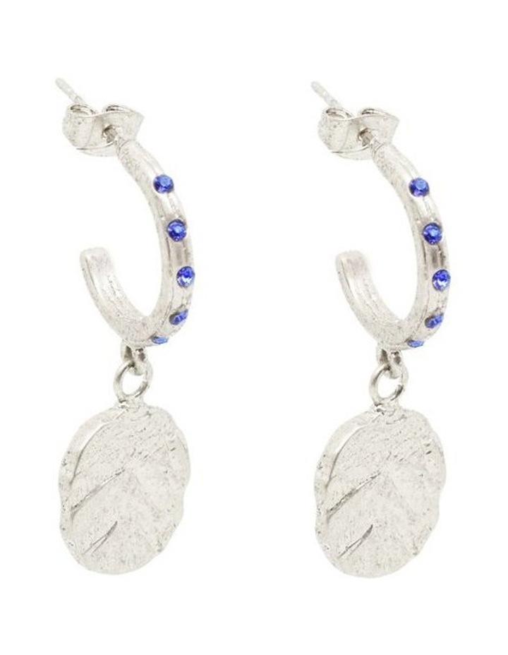 Odine Mini Crystal Hoops Silver image 2