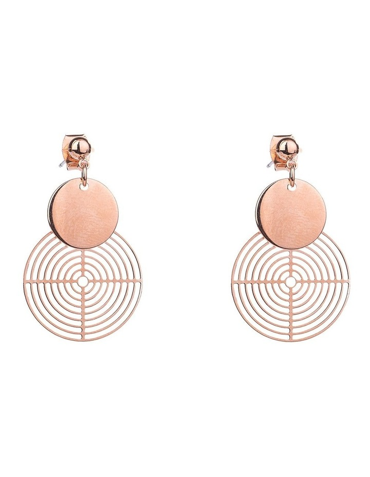 Cut-out Circle Earrings image 1